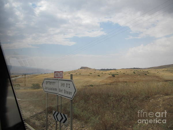 Photograph - Bet Shean Road Sign by Donna L Munro