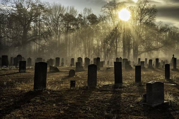 Photograph - Bethany Church Cemetery 01 by Jim Dollar