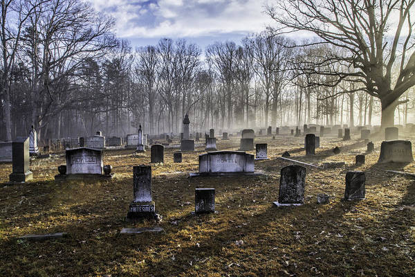 Photograph - Bethany Church Cemetery 09 by Jim Dollar