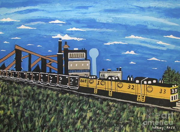 Wall Art - Painting -  Bethlehem Mine 33 And C And I Railroad by Jeffrey Koss