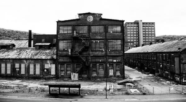 Photograph - Bethlehem Pa In Black And White - Steel Plant by Bill Cannon