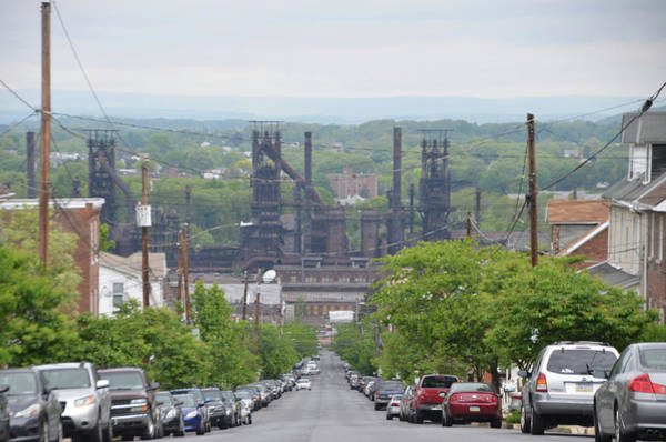 Photograph - Bethlehem Pa - Overlooking The Steel Mill by Bill Cannon