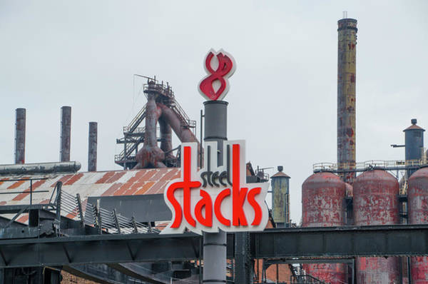 Photograph - Bethlehem Pa - The Steel Stacks by Bill Cannon