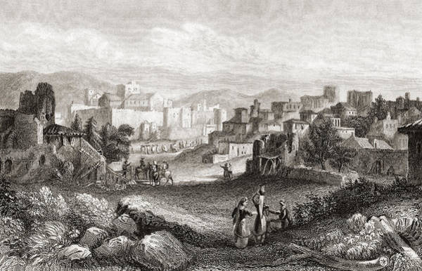 Bethlehem Drawing - Bethlehem, Palestine In The 19th by Vintage Design Pics