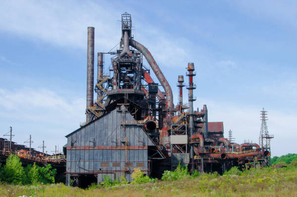 Photograph - Bethlehem Pennsylvania - Steel Stacks by Bill Cannon