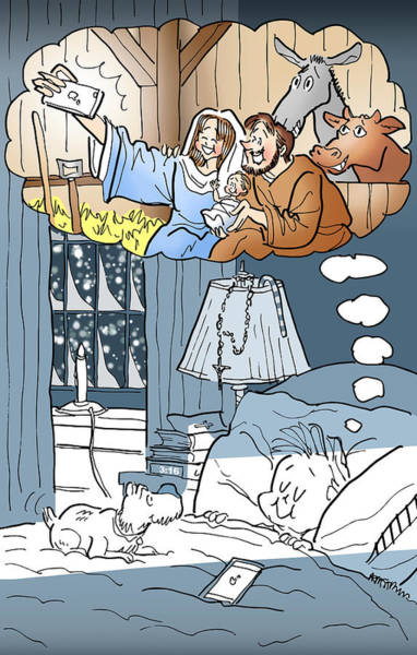 Digital Art - Nativity Selfie by Mark Armstrong