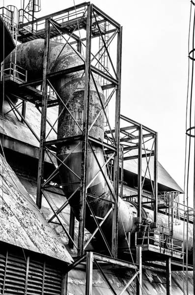 Photograph - Bethlehem Steel - Black And White Industrial by Bill Cannon
