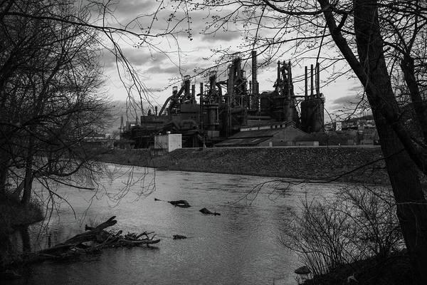 Bethlehem Steel Bw Art Print