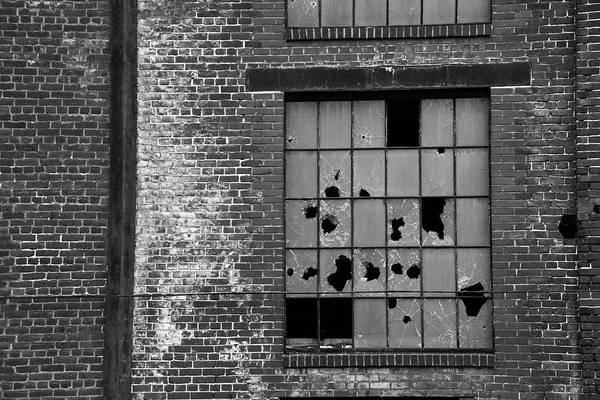 Photograph - Bethlehem Steel Window by Jennifer Ancker