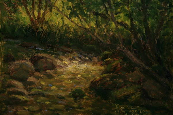 Nz.impressionist Painting - Bethunes Gully Dunedin Nz by Terry Perham
