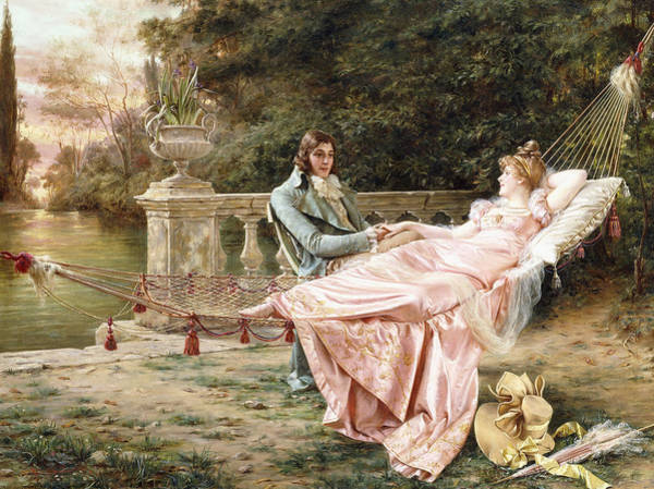Courtship Wall Art - Painting - Betrothed by Joseph Frederic Charles Soulacroix