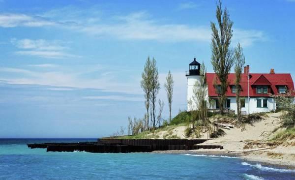 Wall Art - Photograph - Betsie Harbor Lighthouse by Chris Fleming