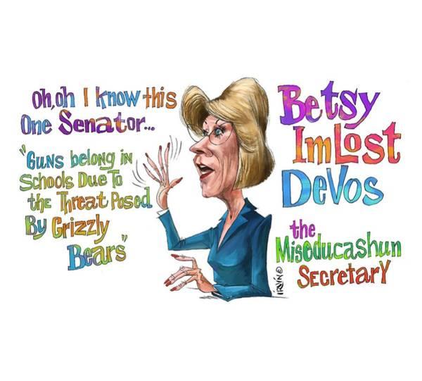 Trump Digital Art - Betsy Devos by Trevor Irvin