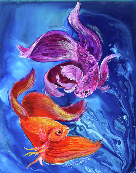 Painting - Betta Dance by Sherry Shipley