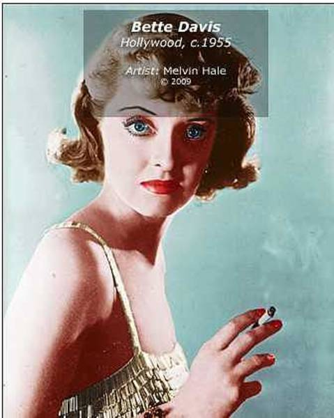 Wall Art - Painting - Bette Davis C1955 by Melvin Hale PhD - ArtistLA