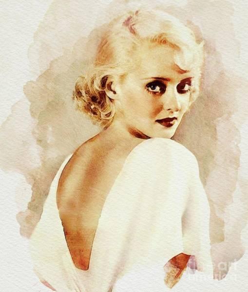 Wall Art - Digital Art - Bette Davis, Vintage Actress by John Springfield