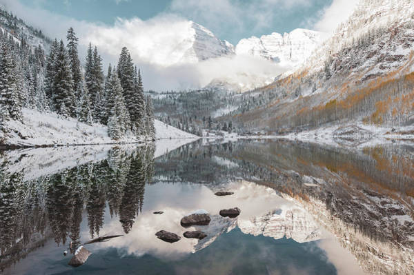 Photograph - Better Than A Dream - Maroon Bells Aspen Mountain Landscape by Gregory Ballos