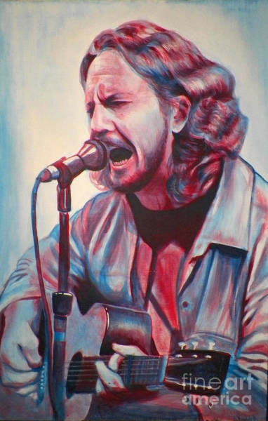Pearl Jam Painting - Betterman Eddie Vedder by Derek Donnelly