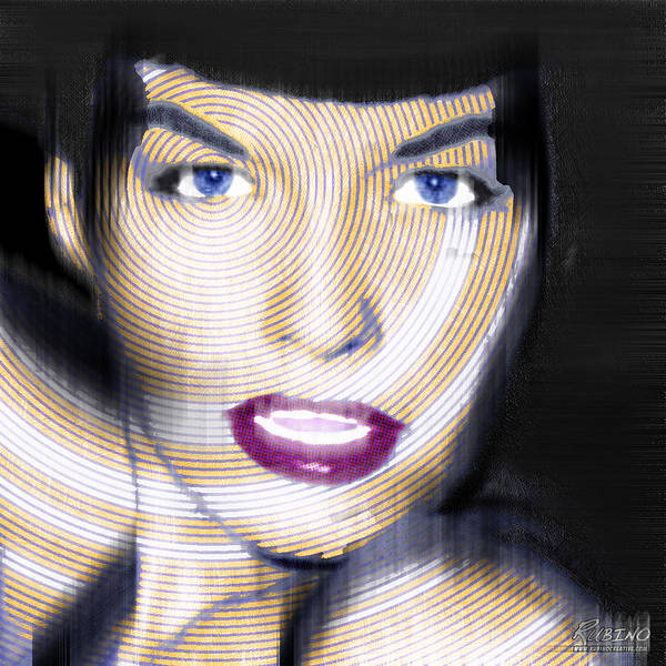 Painting - Bettie Page Improved by Tony Rubino