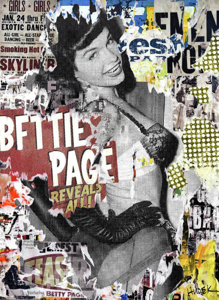 Page Mixed Media - Bettie Page Reveals All by James Hudek