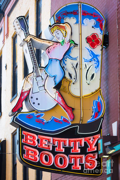 Photograph - Betty Boots Sign I by Clarence Holmes