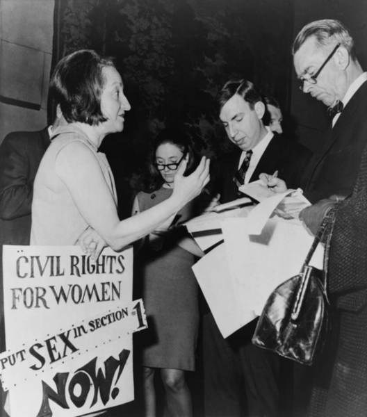 Equal Rights Photograph - Betty Friedan, President by Everett