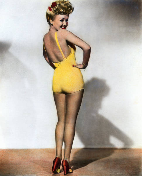 Photograph - Betty Grable by Granger
