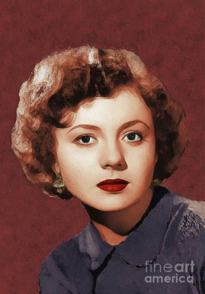Lynn Wall Art - Painting - Betty Lynn, Vintage Actress by John Springfield