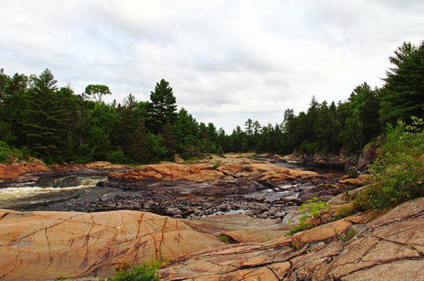 Sturgeon River Photograph - Between A Rock And A Hard Place by Debbie Oppermann