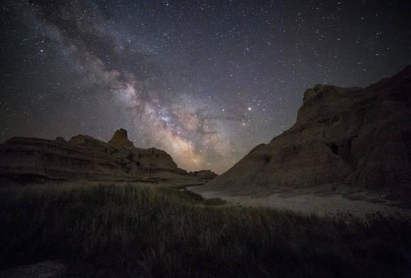 Badlands Photograph - Between by Aaron J Groen