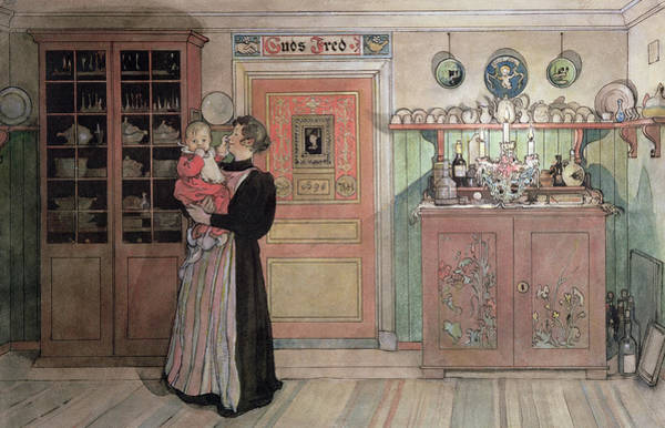 Baby Furniture Wall Art - Painting - Between Christmas And New Year by Carl Larsson