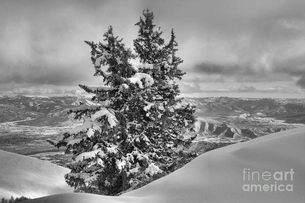 Photograph - Between Mountains And Snow Drift Black And White by Adam Jewell