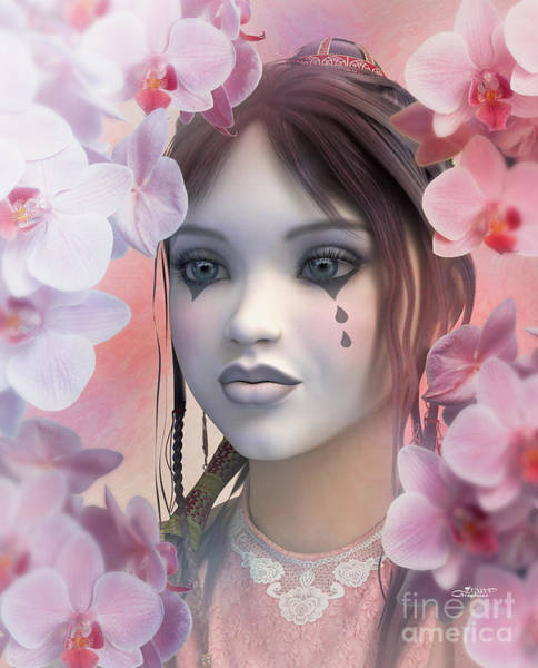 Digital Art - Between Orchids by Jutta Maria Pusl