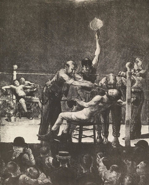 Boxing Painting - Between Rounds No. 1 by George Bellows