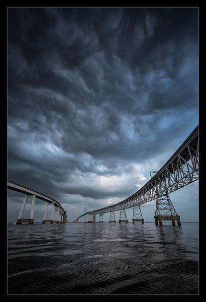 Between The Bridge  Art Print