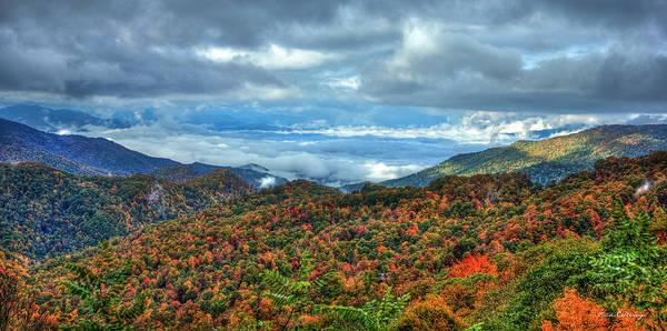 Photograph - Between The Clouds Blue Ridge Parkway North Carolina Art by Reid Callaway