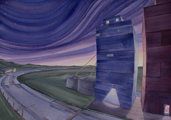 Painting - Between The Elevators II by Scott Kirby