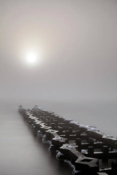 Photograph - Between The Frozen And The Fog by CA Johnson