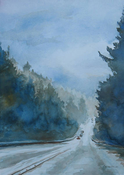 Highway Painting - Between The Showers On Hwy 101 by Jenny Armitage
