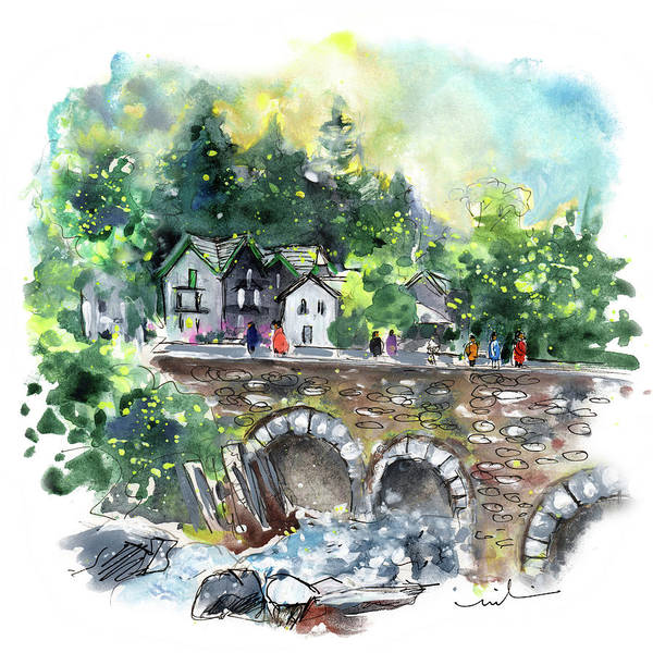 Painting - Betws-y-coed In Snowdonia 02 by Miki De Goodaboom