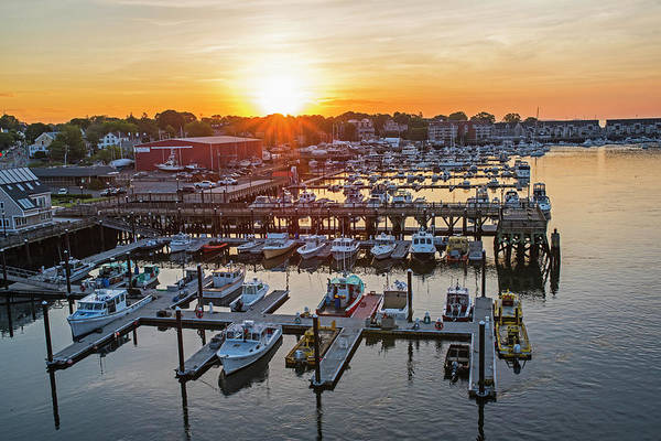 Photograph - Beverly Harbor At Sunrise Beverly Ma Boats by Toby McGuire
