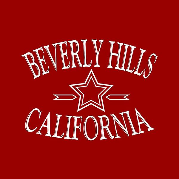 Clothing Design Mixed Media - Beverly Hills California Design by Peter Potter