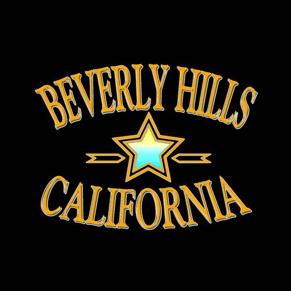 Clothing Design Mixed Media - Beverly Hills California Star Design by Peter Potter