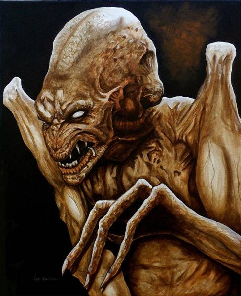 Wall Art - Painting -  Beware Pumpkinhead by Al  Molina
