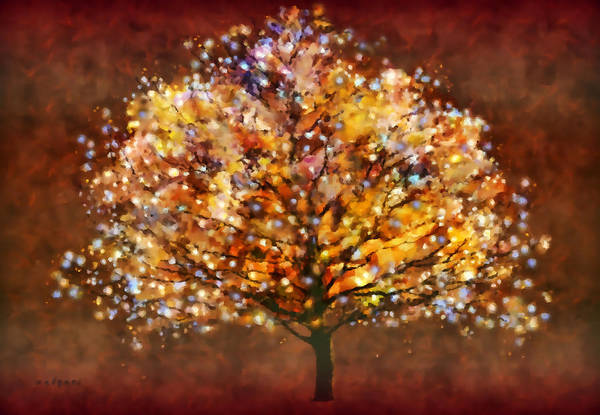 Painting - Starry Tree by Valerie Anne Kelly