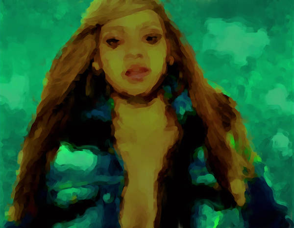 Child Actress Painting - Beyonce 04a by Brian Reaves