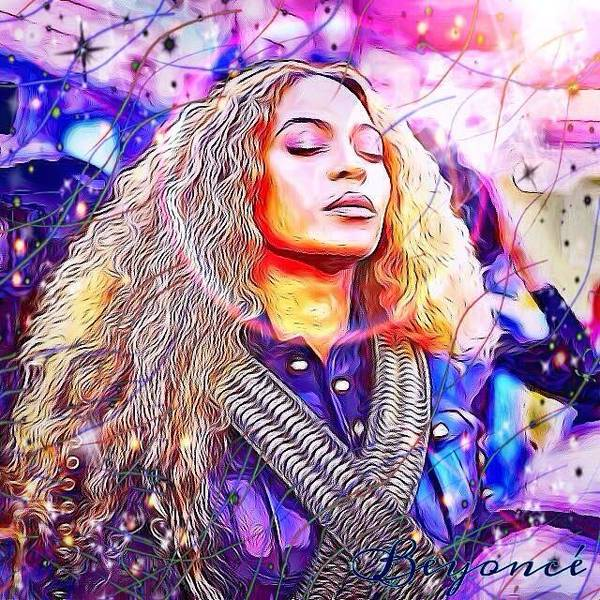 Digital Art - Beyonce by Karen Buford