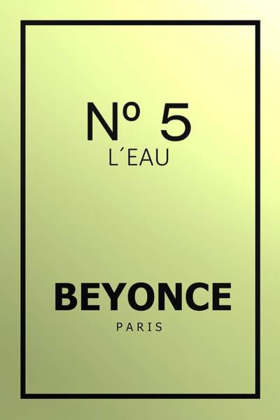 Digital Art - Beyonce N 5 by Alberto RuiZ