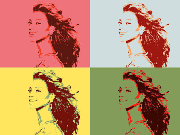 Rap Mixed Media - Beyonce Pop Art Panels by Dan Sproul
