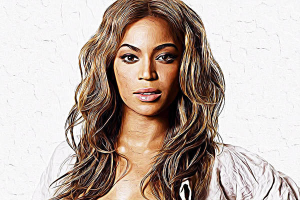 Wall Art - Painting - Beyonce by Queso Espinosa